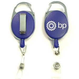 Oval Shape Retractable Badge Holder with Clip
