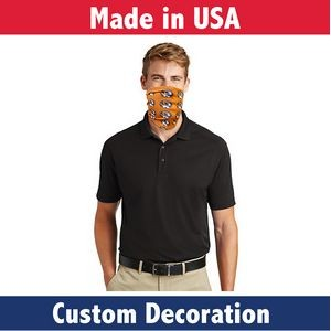 Fabric Adult Face Guard- Custom Full-Color Printed Mask-Sewn In USA
