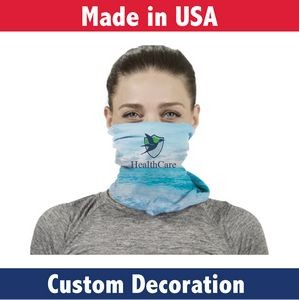 Fabric Adult Neck Gaiter- Custom Full-Color Printed Mask-Sewn In USA