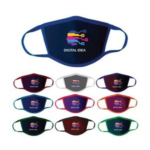 Full Color Polyester Two Ply Face Mask Cover